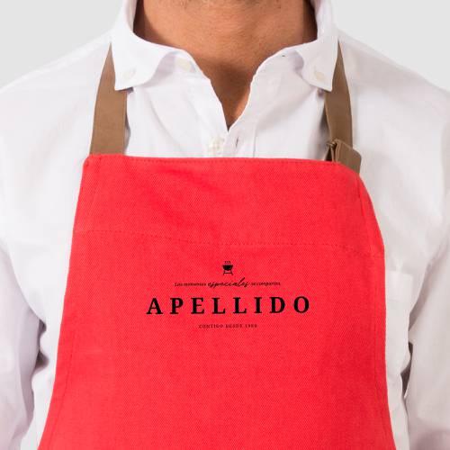 Delantal Color Siete Cantillo - Rojo