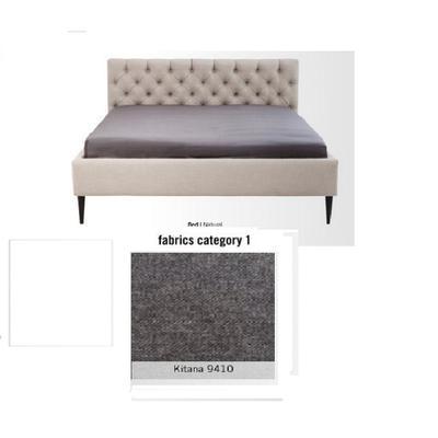 Cama Nova, tela 1 - Kitana 9410,   (85x220x215cms), 180x200cm (no incluye colchón)