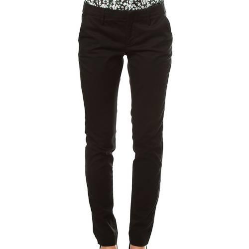 Pantalon Chino Color Siete para Mujer - Negro