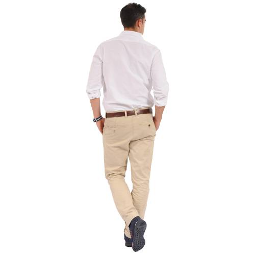 Camisa Manga Larga Oxford Jack Supplies Para Hombre  - Blanco