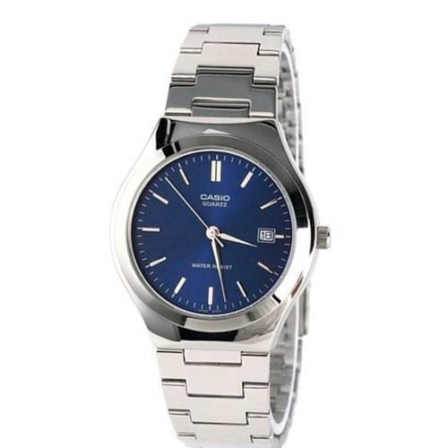 Reloj análogo azul-plateado MTP-1170A-2AR
