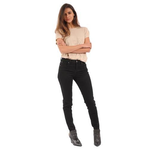Camiseta Básica Color Siete para Mujer - Beige