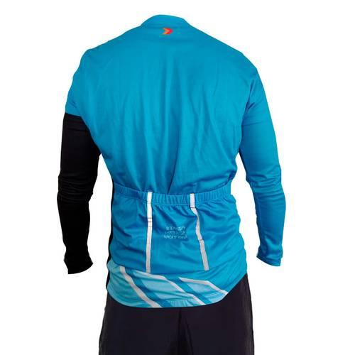 Camiseta Ciclismo Azul Y Negro