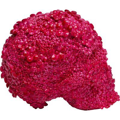 Alcancía Skull Flowers rosa