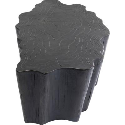 Mesa centro Tree Stump negro 119x68cm