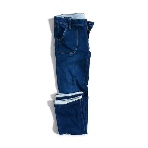 Jean Waldorf Color Siete para Mujer - Azul