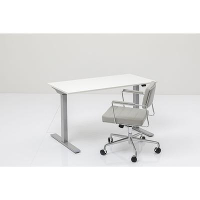 Escritorio Office Smart gris blanco 160x80cm