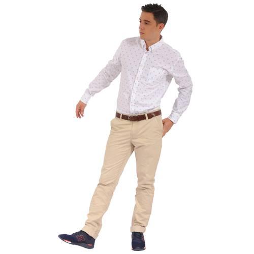 Camisa Manga Larga Wainscott Jack Supplies Para Hombre - Blanco
