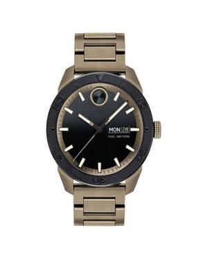 Reloj análogo negro-marrón 0511