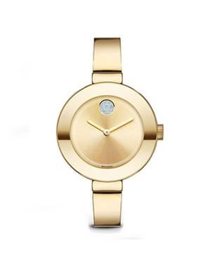 Reloj análogo dorado 0201