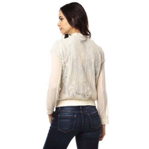 Blusa Color Siete para Mujer - Beige