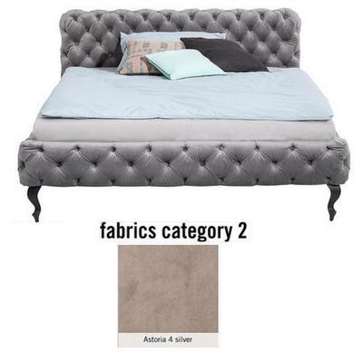 Cama Desire, tela 2 - Astoria 4 silver,  (100x157x228cms), 140x200cm (no incluye colchón)