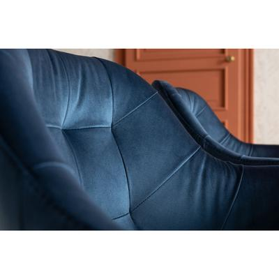 Silla reposabrazos Black Lady Velvet azul