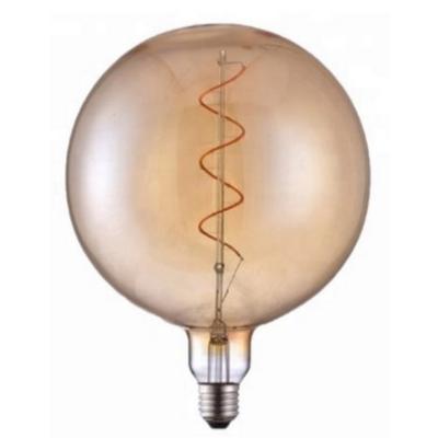 Bombilla de filamento LED Ámbar Forma G150 - Rosca E27 - Luz Cálida - Dimerizable
