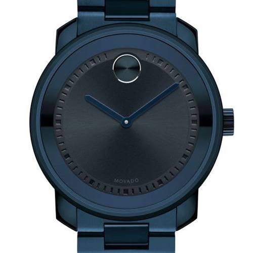 Reloj análogo negro-azul 0296