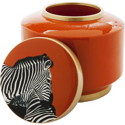 Vasija decorativa Zebra naranja 19cm