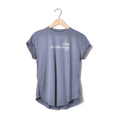 Camiseta Bella Rosé Pistol Para Mujer - Azul