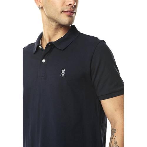 Camiseta tipo Polo Jack Supplies para Hombre-Azul
