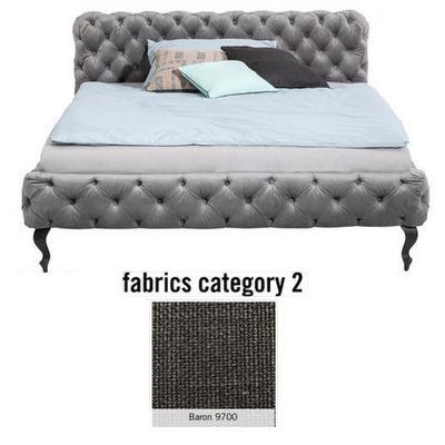 Cama Desire, tela 2 - Baron 9700, (100x177x228cms), 160x200cm (no incluye colchón)