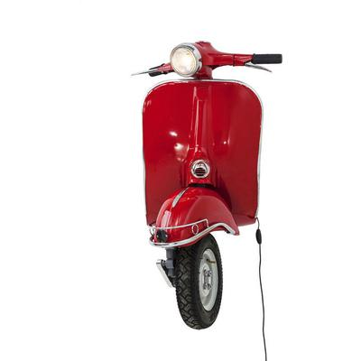 Lámpara pared Scooter rojo grande