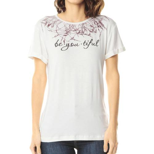 Camiseta Estampada Color Siete para Mujer - Blanco