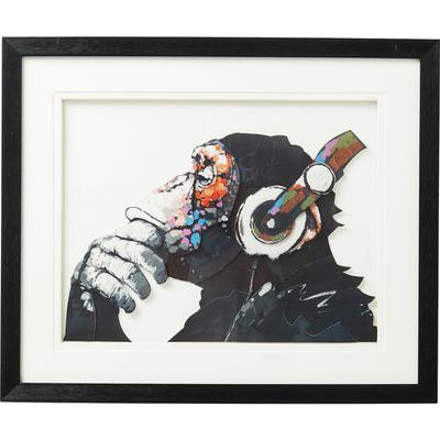 Cuadro Art Monkey Musik 60x50cm