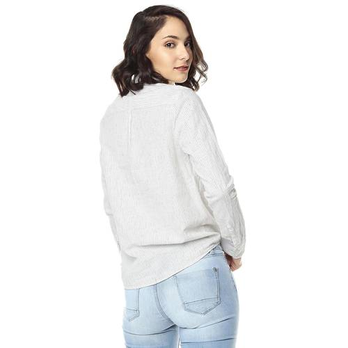 Camisa Para Mujer Color Siete - Blanco