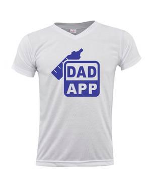 Camiseta Cuello V Dad App 0257 - ART GENERATION