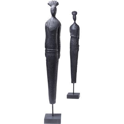 Figura decorativa Asia Clan negro varios