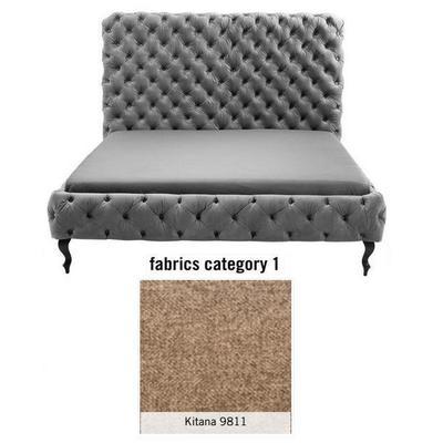 Cama (Alta) Desire, tela 1 - Kitana 9811, (135x197x228cms), 180x200cm (no incluye colchón)