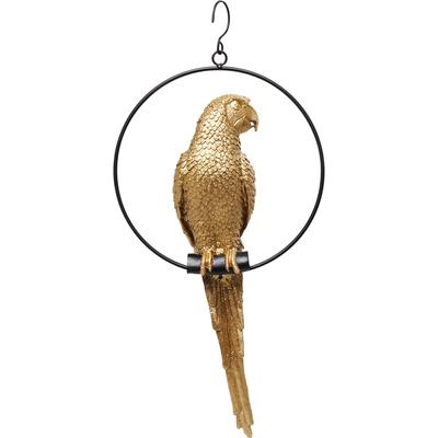 Objeto decorativo Swinging Parrot oro