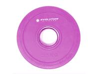 Disco bumper encauchetado púrpura 2.5kg EVOLUTION