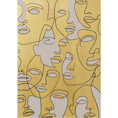 Cuadro lienzo Faces 70x100cm