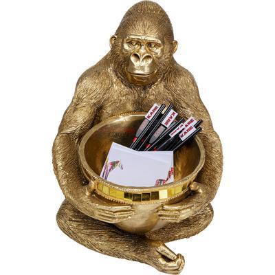 Figura deco Gorilla Holding Bowl oro
