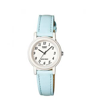 Reloj análogo blanco-celeste L-2B