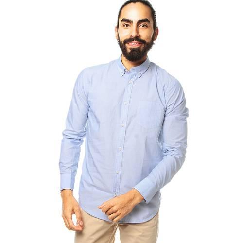 Camisa Manga Larga Jack Supplies para Hombre - Azul