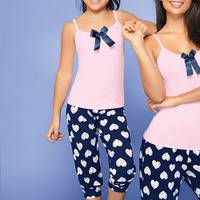 Pijama Conj / Capri / Tira Azul