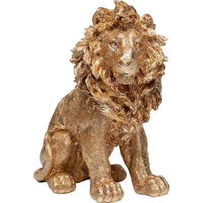 Figura deco Sitting Lion oro 42cm