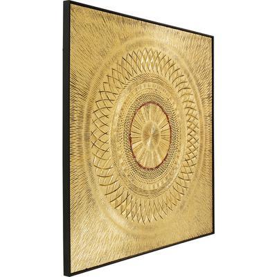 Cuadro (objetos) Art Geometric Circle oro 120x120c