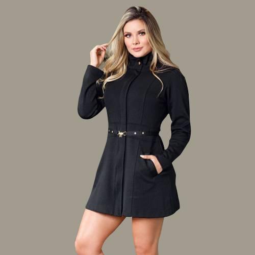 Vestido Broche Negro