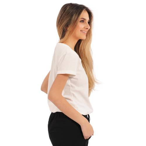 Camiseta Katherine Rosé Pistol para Mujer - Beige