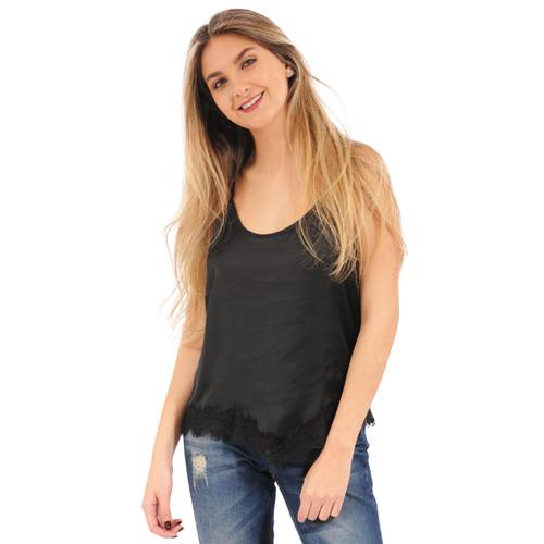 Blusa Faith Lace Rosé Pistol Para Mujer - Negro