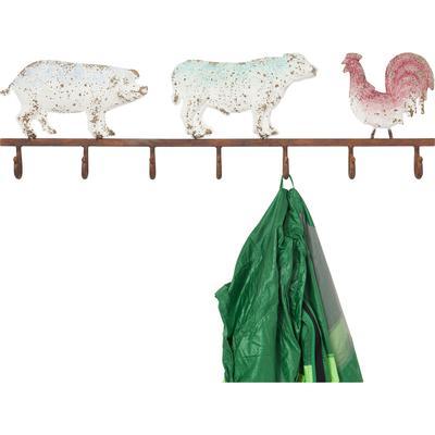 Perchero pared Farm Animals
