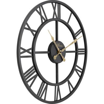 Reloj pared Roman negro Ø41cm