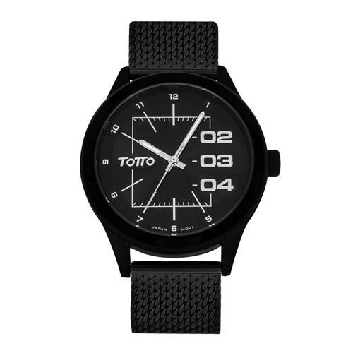 Reloj análogo negro-negro 4-12