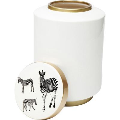 Vasija decorativa Zebra Blanco 33cm
