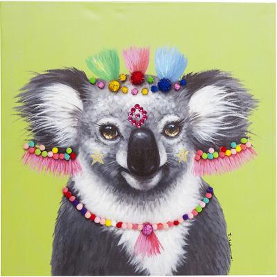 Cuadro Koala Pom Pom 70x70cm
