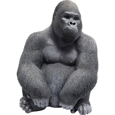 Figura decorativa Monkey Gorilla Side mediano negr
