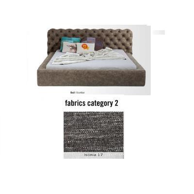 Cama Slumber,  tela 2 - Istinia 17,  (82x228x239cms), 180x200cm (no incluye colchón)