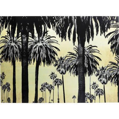 Cuadro cristal Metallic Palms 120x180cm